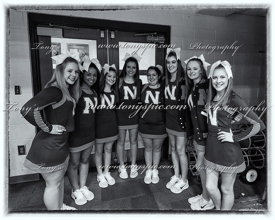 Cheerleaders @ Calhoun Game 10 Jan 2018