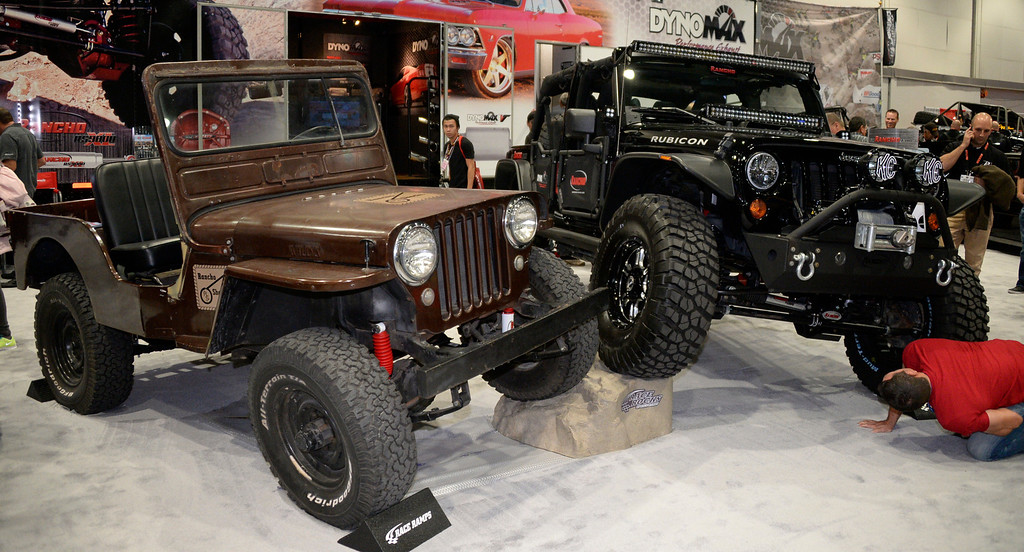 . Nov 6,2013 Las Vegas NV. USA. Some old and new Jeeps on display during the second day of the 2013 SEMA auto show. Photo by Gene Blevins/LA Daily News