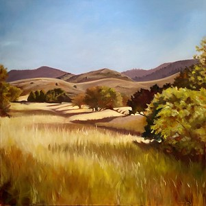 """""""Open Space in North Ranch"""" (oil on canvas) by Mitra Devon"""