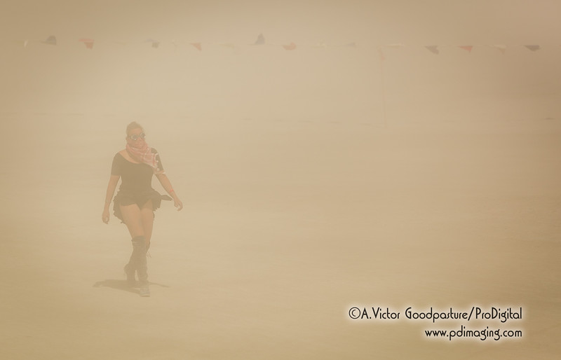 Dust storm. You just have to deal with them.