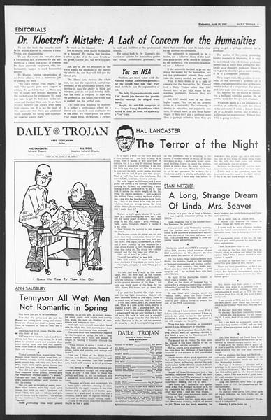 Daily Trojan, Vol. 58, No. 112, April 26, 1967