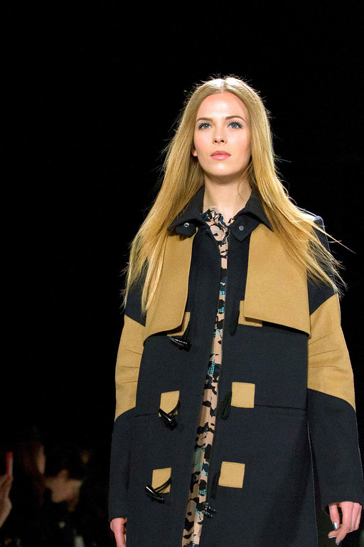 . A model walks the runway during the Rebecca Minkoff Fall 2013 fashion show during Fashion Week, Friday, Feb. 8, 2013, in New York. (AP Photo/Karly Domb Sadof)