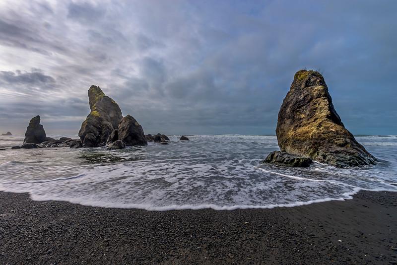 Sea stacks, Ruby Beach, Olympic National Park, Washington