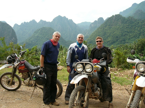 Keith, Cliff & Jeff enjoying the ride towards Luang Prabang