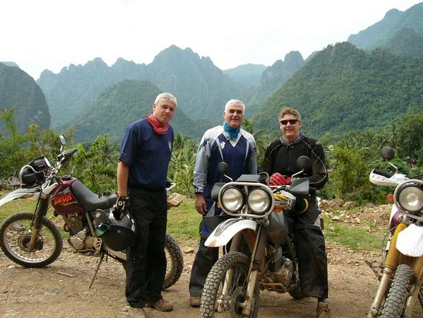 Keith, Cliff & Jeff enjoying the ride towards Luang Prabang