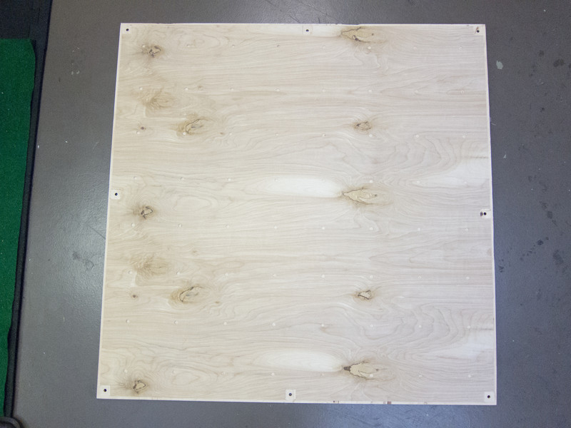 """Machining a prototype of the back panel in 1/4"""" Birch Plywood"""