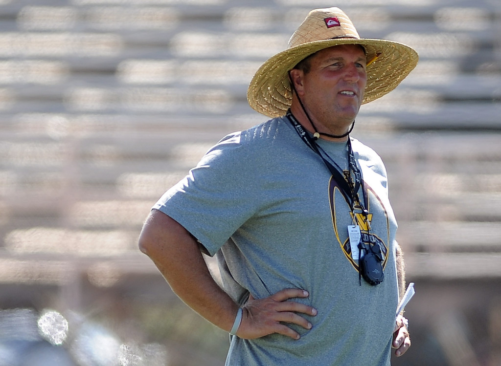 . Head coach Mike Maggiore during football practice at West Covina High School on Tuesday, Aug. 20, 2013 in West Covina, Calif.   (Keith Birmingham/Pasadena Star-News)