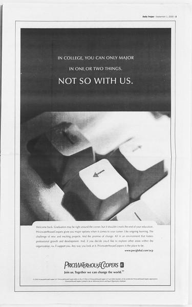 Daily Trojan, Vol. 141, No. 5, September 01, 2000