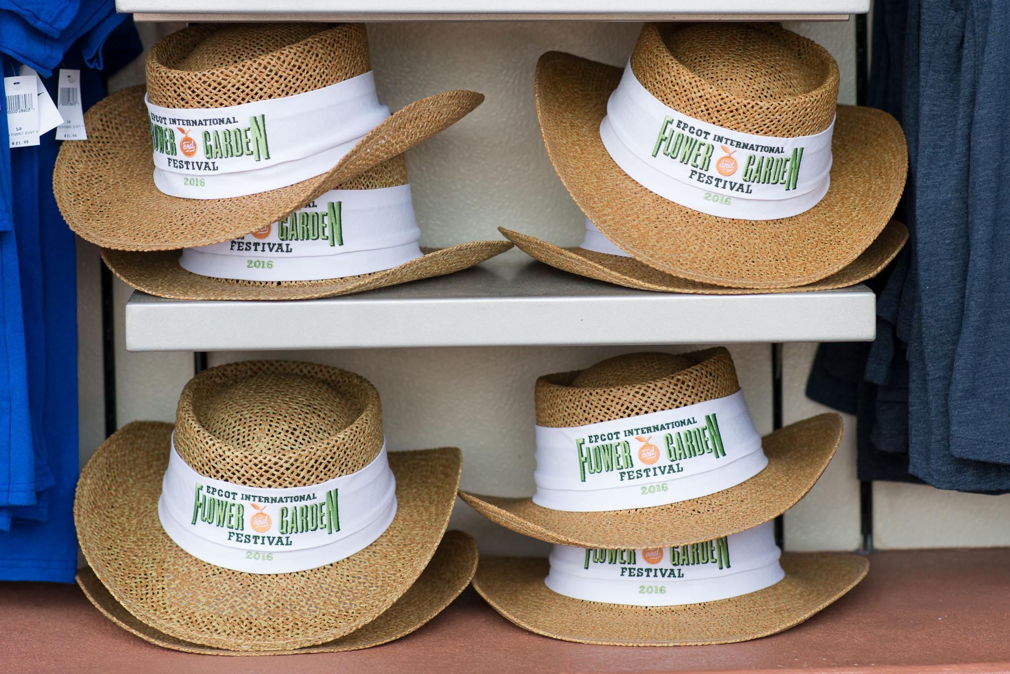 Straw Gardening Hats - Epcot Flower & Garden Festival 2016