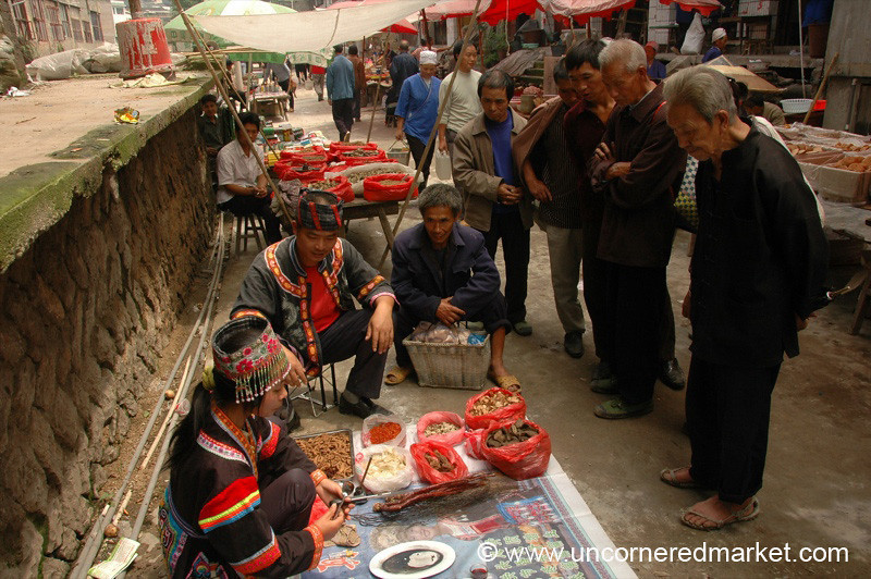 Street Vendors, Chong'an Market - Guizhou Province, China