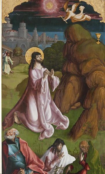 St. Niklas, Ehrenfriedersdorf, Altar, Christus am Ölberg mit Petrus, Jakobus d.Ä., Johannes