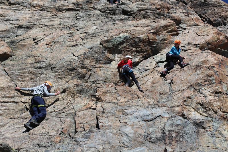 Climbing on Riffelhorn