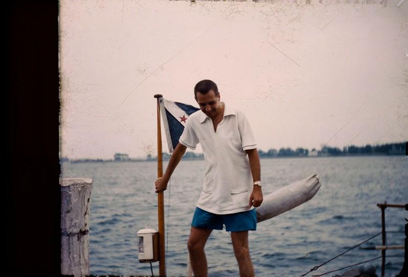1955 08 Cass on Laswell's boat.jpg