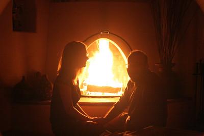 2006-02-19 Mark, Kristen, Amanda & Matt - playing with firelight