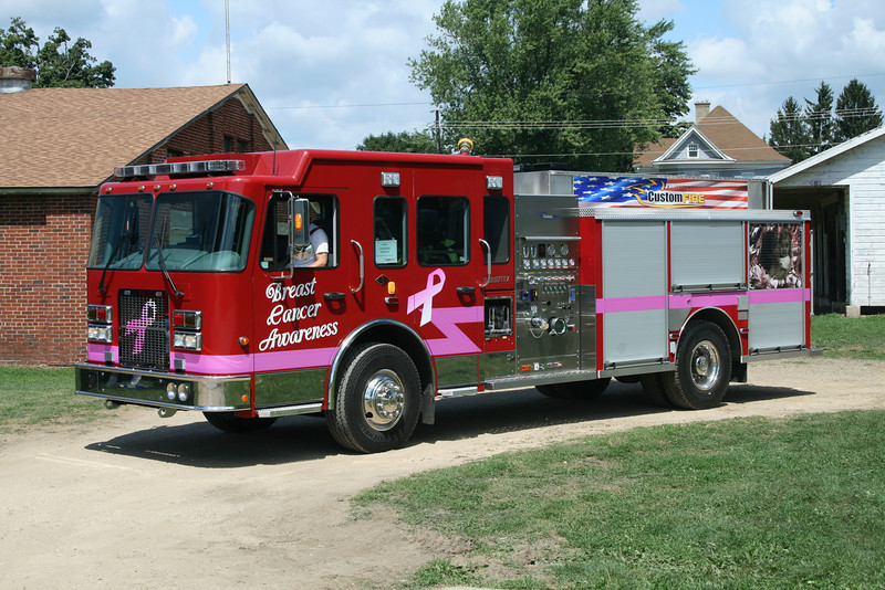 SPARTAN/CUSTOM FIRE DEMO AT MONROE FIRE SCHOOL,WI  2008 SPARTAN ADVANTAGE/CUSTOM FIRE 1500/1000/20