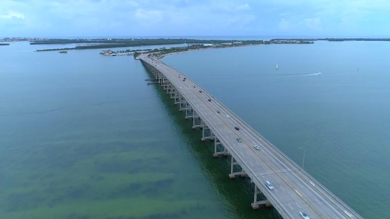Rickenbacker Causeway Miami aerial tour