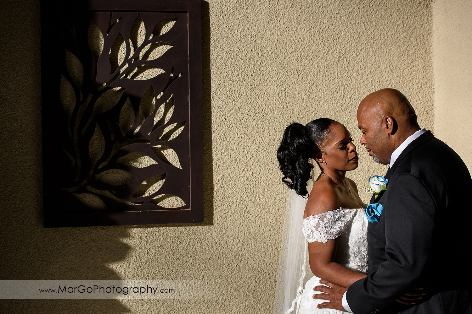 portrait of the bridge and groom at Wedgewood Wedding & Banquet Center in Brentwood