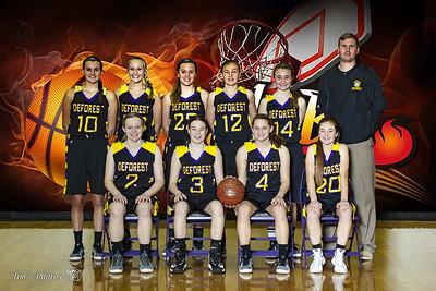 HS Sports - DeForest Girls Basketball - JV