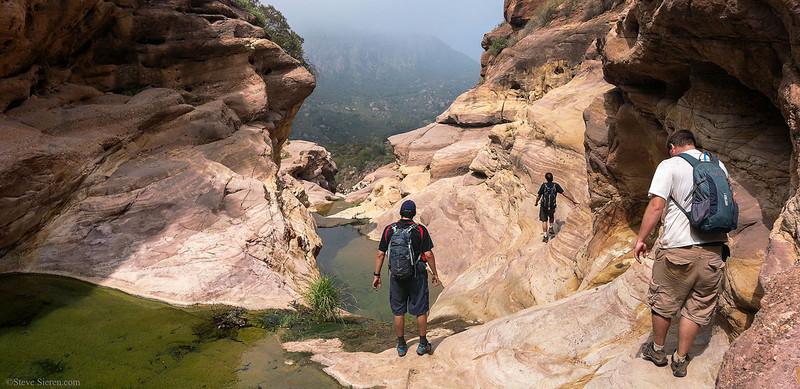 Sespe Wilderness Geology Tar_Creek_Hikers_Pano.jpg