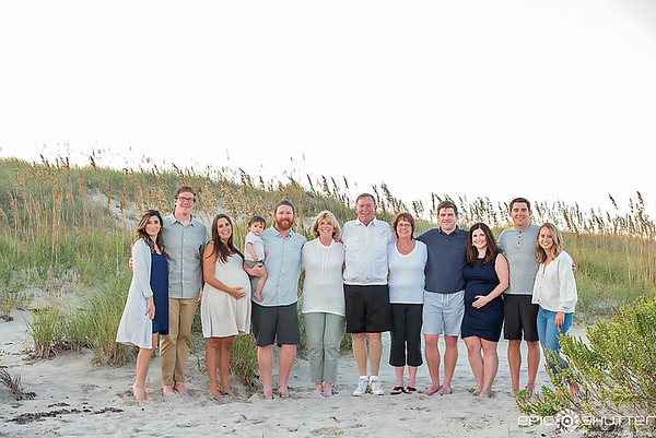 Waves, North Carolina, Family Sunset Portraits