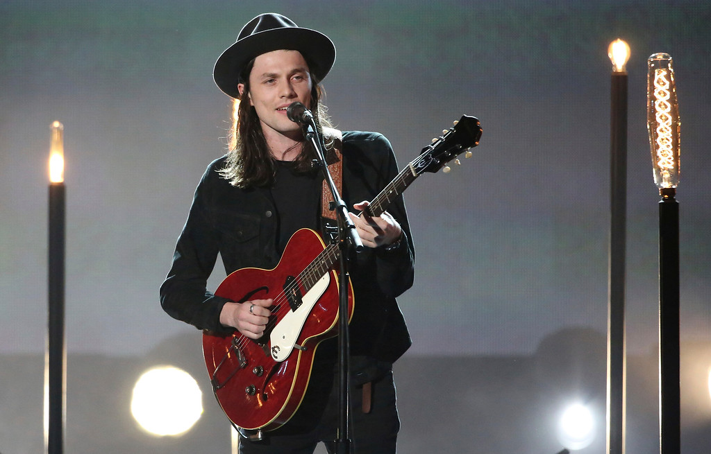 ". James Bay performs ""Let It Go\"" at the American Music Awards at the Microsoft Theater on Sunday, Nov. 20, 2016, in Los Angeles. (Photo by Matt Sayles/Invision/AP)"