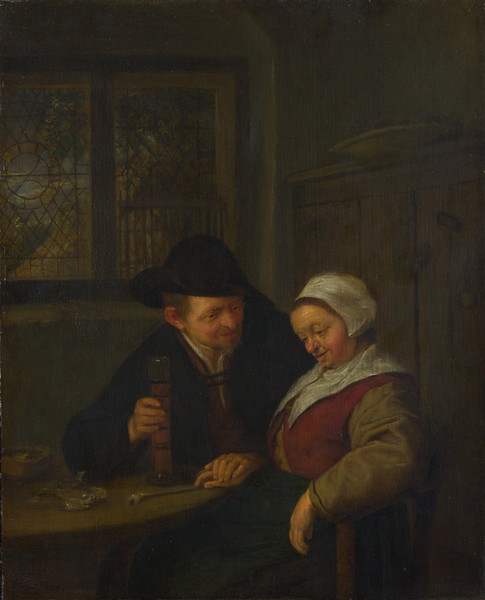 A Peasant courting an Elderly Woman