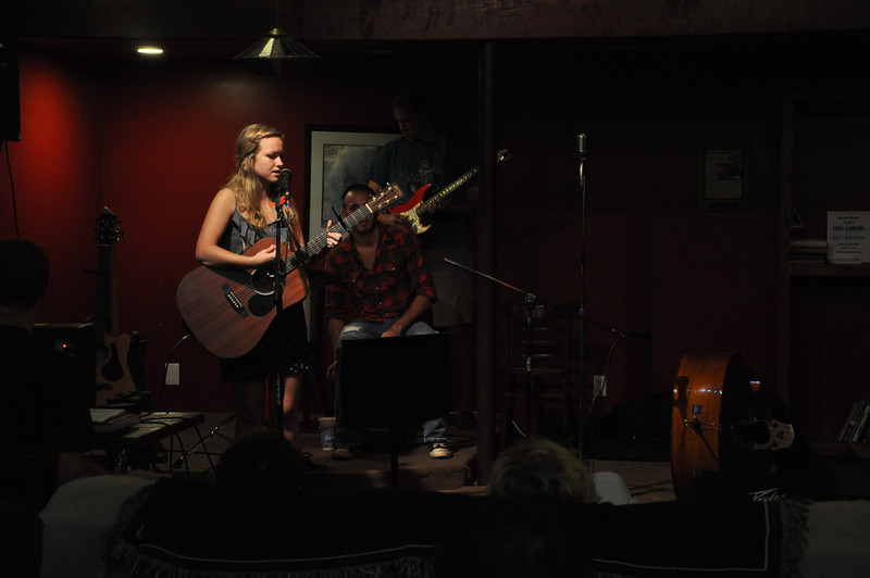 Chandler Carrigan performs at the first Open Mic Night at Broad River Coffee Company in Boiling Springs.