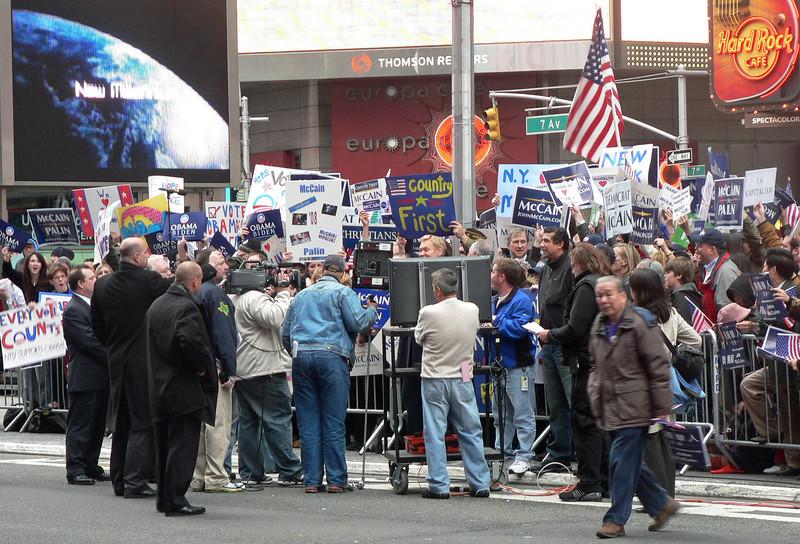 Valtider på Times Square