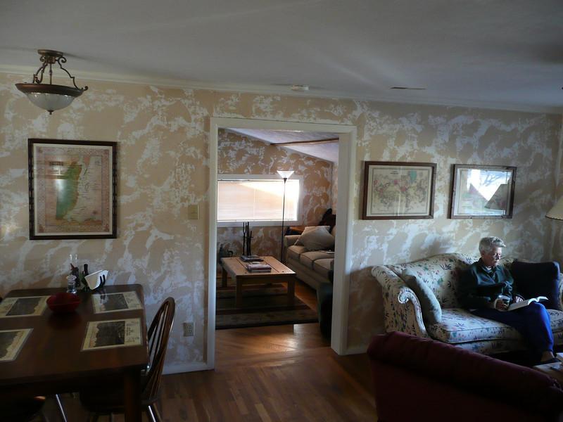 Living Room looking into Den
