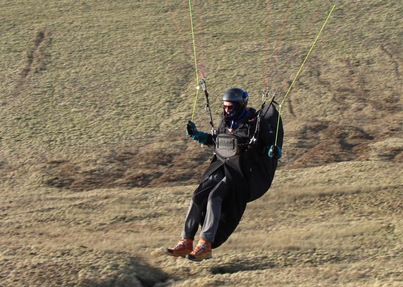 Pete landing