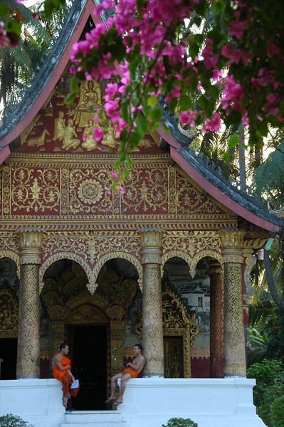 Monks at Wat Pa Phai - Luang Prabang, Laos