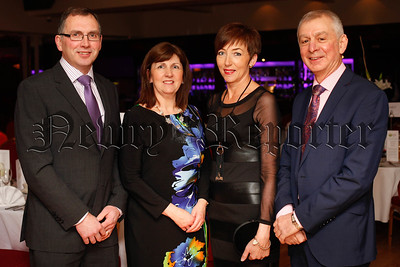 Mervyn and Glenda Black and Edith and Robin Irvine at the County Armagh Ulster Farmers' Union Annual Dinner in Newry. Photograph: Columba O'Hare