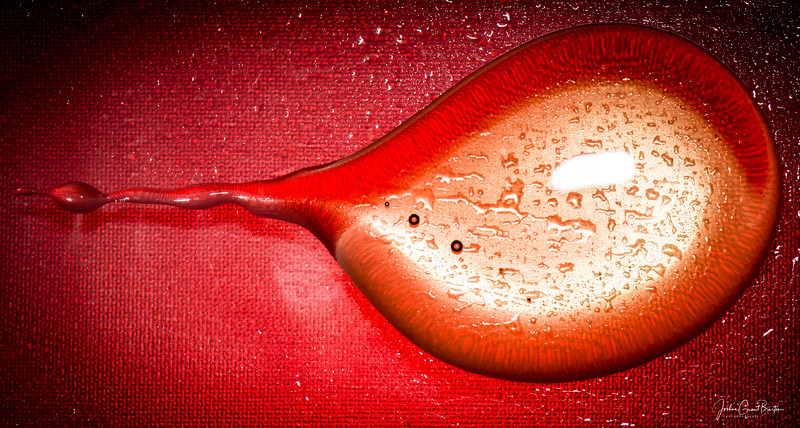 Having fun with red light, glass, and honey