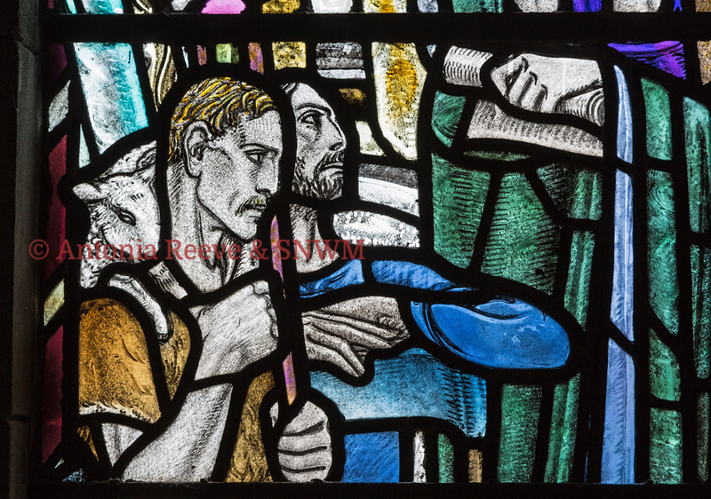 Detail of Shrine window 3, Shepherd