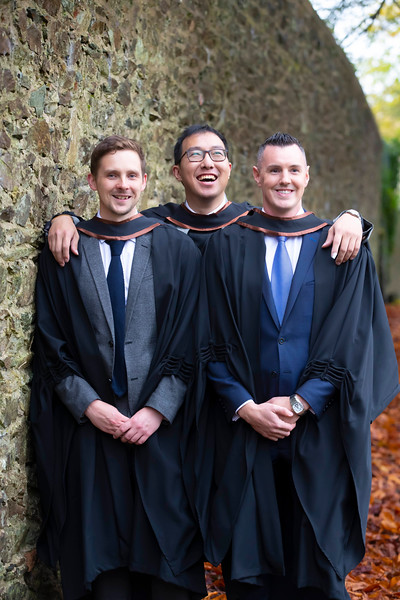 31/10/2019. Waterford Institute of Technology (WIT) Conferring Ceremonies. Pictured are Colm O'Murchu Carlow, Ian Tan Cahir and Anthony Quinn Cahir. Picture: Patrick Browne