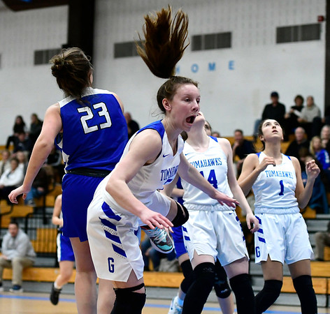3/5/2020 Mike Orazzi | Staff Glastonbury's Charlotte Bassett (15) during the Class LL Second Round of the CIAC 2020 State Girls Basketball Tournament at Glastonbury High School on Thursday night.