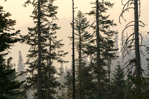 A smokey North Cascades