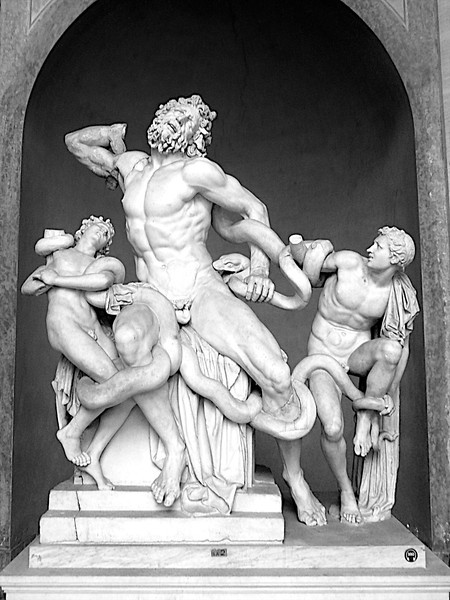 Laocoon, Greek civilization crushed, Rome, Vatican, Italy