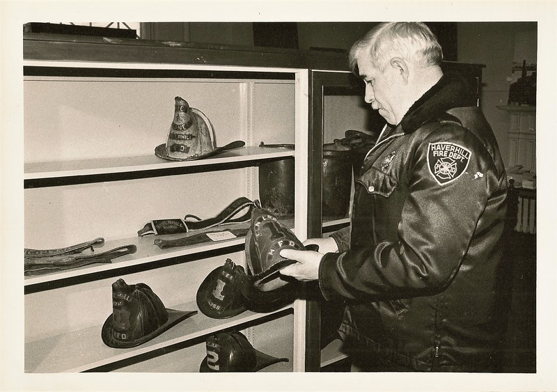 Chief Richard H Borden Looking at Antiques.JPG