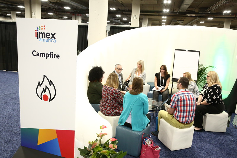 A Campfire session at the Inspiration Hub