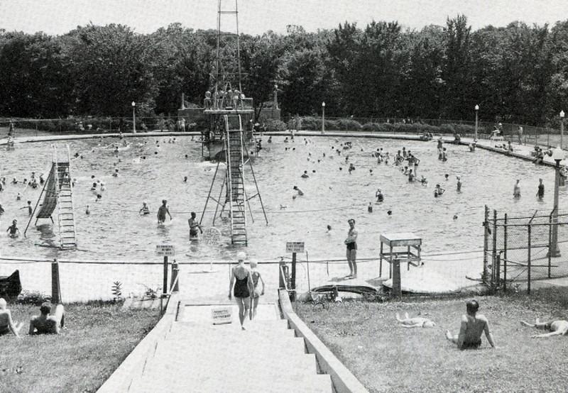 Crystal Lake Pool BW
