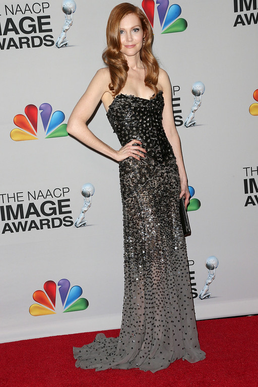 . LOS ANGELES, CA - FEBRUARY 01:  Actress Darby Stanchfield poses in the press room during the 44th NAACP Image Awards at The Shrine Auditorium on February 1, 2013 in Los Angeles, California.  (Photo by Frederick M. Brown/Getty Images for NAACP Image Awards)