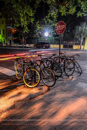 Night time on King Street in Charleston
