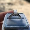 1.00ct Emerald Cut Diamond Solitaire, Platinum 22