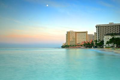 Waikiki Beach, Honolulu in Pastel, Oahu, Hawaii