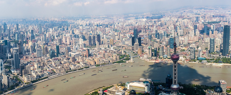 View from the Shanghai Tower observation deck