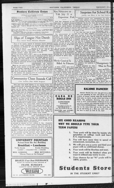 Southern California Trojan, Vol. 10, No. 4, July 02, 1931