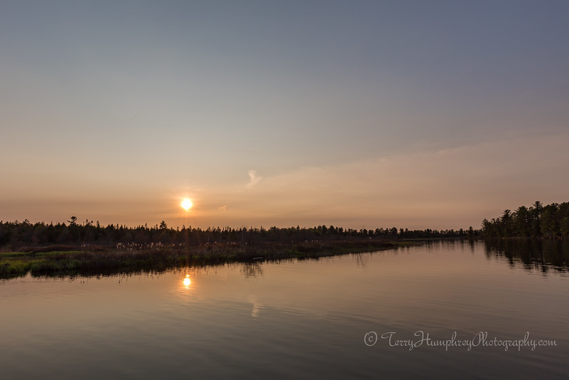 Summer Sunset on the Tahquamenon