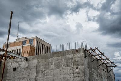 Logan Environmental center and construction of Huntsman bldg