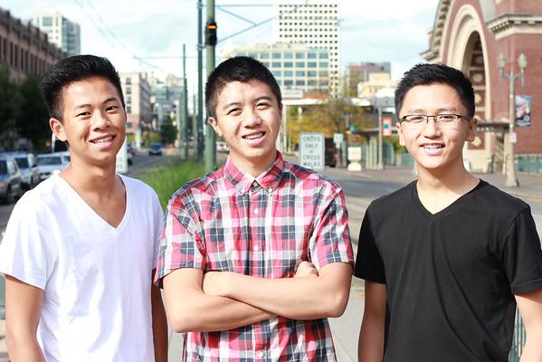 Three Friends- Michael, Justin, and Minh